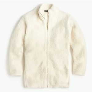NWT J. Crew Pont Sur Fuzzy Cardigan Jacket Cream
